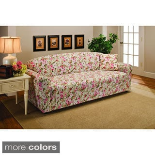 Superbe Sanctuary Stretch Jersey Floral Sofa Slipcover