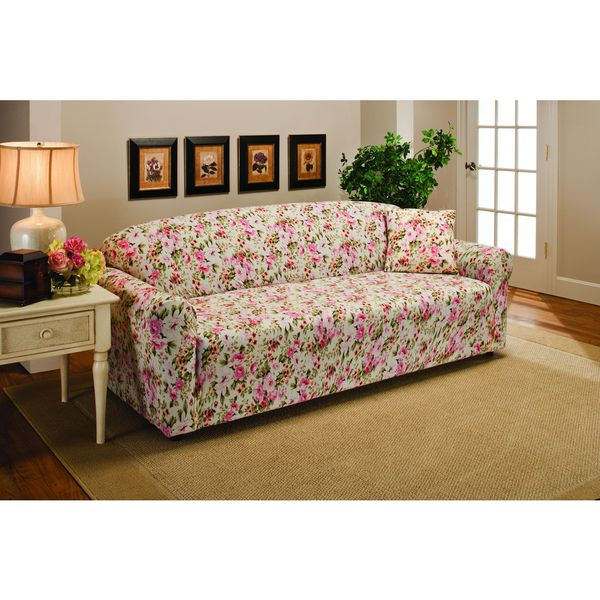 Sanctuary Stretch Jersey Floral Sofa Slipcover Free