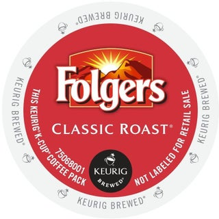 Folgers Gourmet Selections Classic Roast Coffee, K-Cup Portion Pack for Keurig Brewers (2 options available)