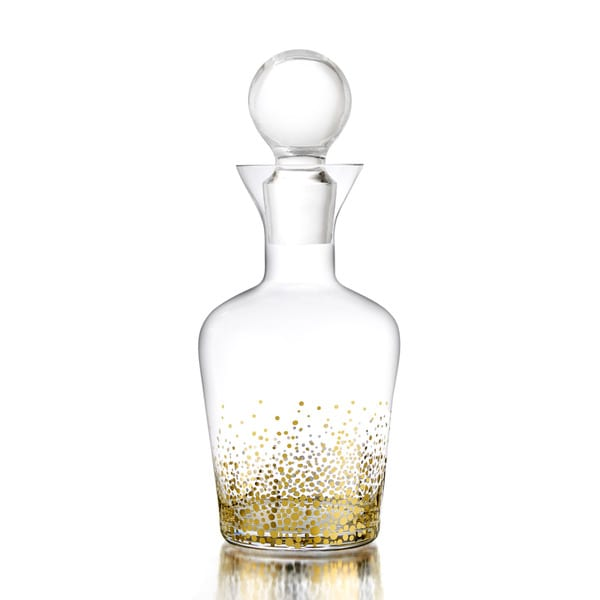 Fitz & Floyd Gold Luster Glass Decanter   16791401