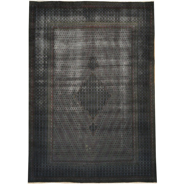 Shop Worn Old Persian Bidjar Overdyed Hand-knotted Area