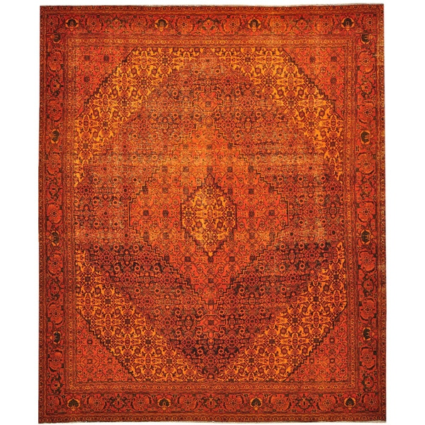 Shop Some Wear Persian Birjand Overdyed Orange Cast Hand