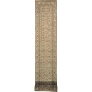 Ivory Khotan XL Runner 100-percent Wool Hand-knotted Area Rug (3' x 30')