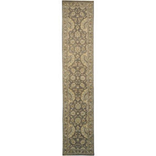 Stone Wash Sultanabad Hand-knotted Runner 100-percent Wool Area Rug (3' x 12')