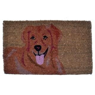Golden Retriever Coir Doormat