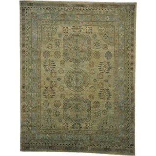 Silver Wash Khotan Oriental 100-percent Wool Natural Dyes Area Rug (8' x 10')