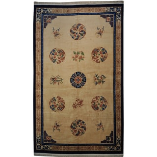 100-percent Wool Thick and Plush Chinese Gallery Size Area Rug (11' x 18')