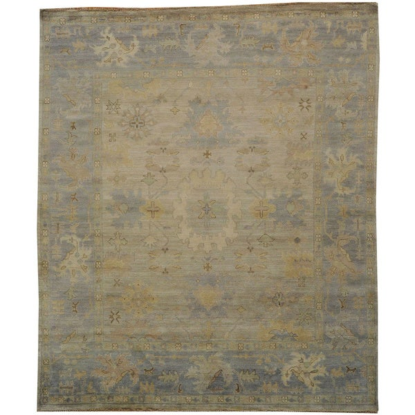 Shop Washed Out Beige Oushak Oriental 100 Percent Wool Area Rug 8