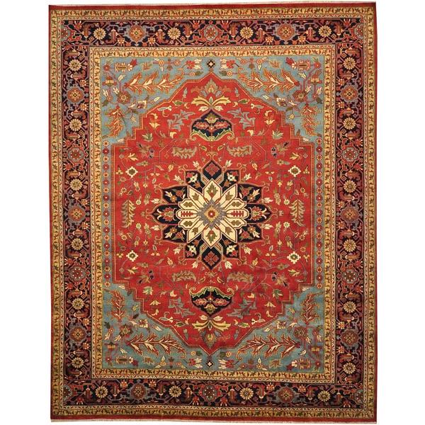 100 Wool Persian Area Rug: 100-percent Wool Tribal Oriental Serapi Heriz Oversize