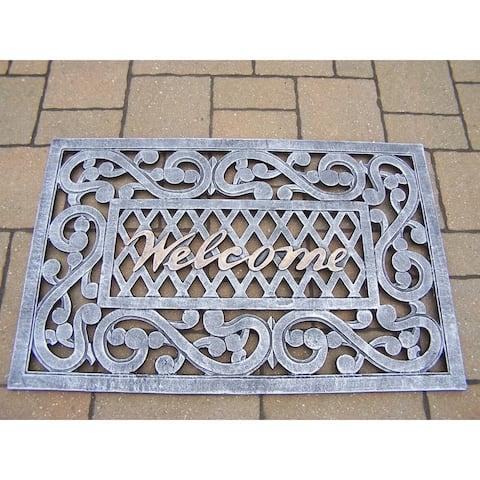 Hand-painted Welcome Doormat