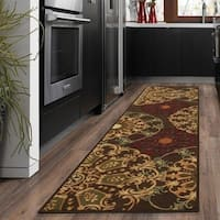 "Ottomanson Ottohome Collection Medallions Design Non-slip Area Rug - 1'10"" x 7'"