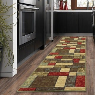 Ottomanson Ottohome Collection Contemporary Boxes Design Area Rug