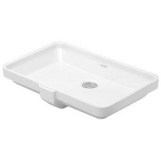 Duravit 20.625-inch 2nd Floor White Undercounter Basin 03165300001