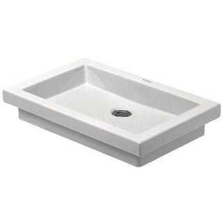 Duravit 22.875-inch Countertop Basin without Tap Platform