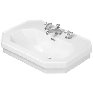 Duravit Series 1930 23.5-inch White Washbasin with 1 Tap Hole