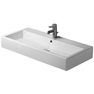 Duravit 39.375-inch Vero White Ground GWL Washbasin