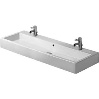 Duravit 47.25-inch Vero White Washbasin with 2 Tap Holes