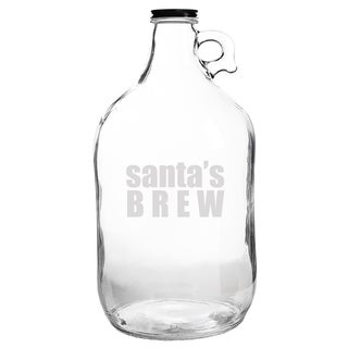 Santa's Brew Glass Growler