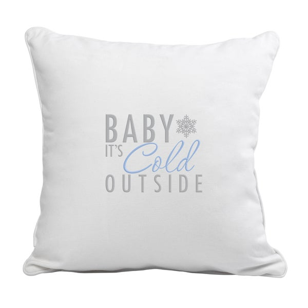 Shop Baby It S Cold Outside Throw Pillow Free Shipping
