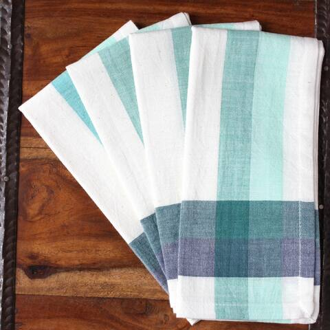 Handmade Fresh Cotton Plaid Napkins (India)