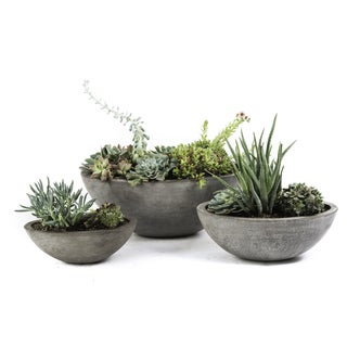 Set of 3 Eco-concrete Yano Planter (Viet Nam)