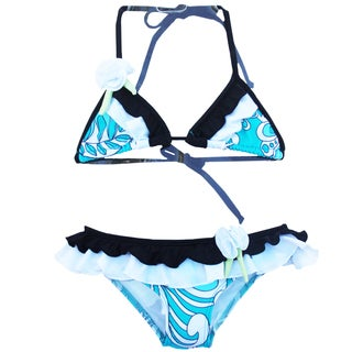 Azul Swimwear Girls' Surfing Frills Triangle Bikini