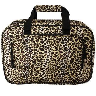 World Traveler Leopard 15-inch Lightweight Carry-On Shoulder Tote Duffle Bag