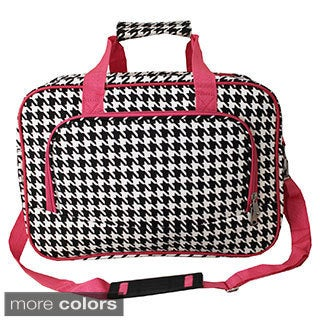 World Traveler Houndstooth 15-inch Lightweight Carry-On Shoulder Tote Duffle Bag