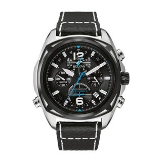 Bulova Men's 98B226 Stainless Steel Blue Dial Watch