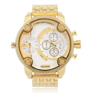 Territory Men's Round Face Quartz Dual Time Link Band Watch|https://ak1.ostkcdn.com/images/products/9607317/P16792977.jpg?impolicy=medium