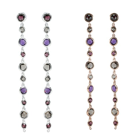 Dallas Prince Sterling Silver Multi-stone Earrings