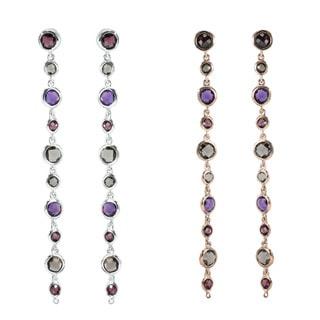 Dallas Prince Sterling Silver Multi-stone Earrings
