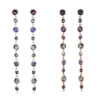 Dallas Prince Sterling Silver Multi-stone Earrings (2 options available)