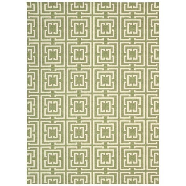 "Rug Squared Milford Green Rug (2'6 x 8') - 2'6"" x 8' Runner"