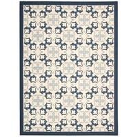 Rug Squared Milford Blue Rug (5' x 7') - 5' x 7'