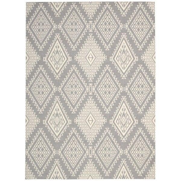 Rug Squared Milford Grey Rug (5' x 7') - 5' x 7'