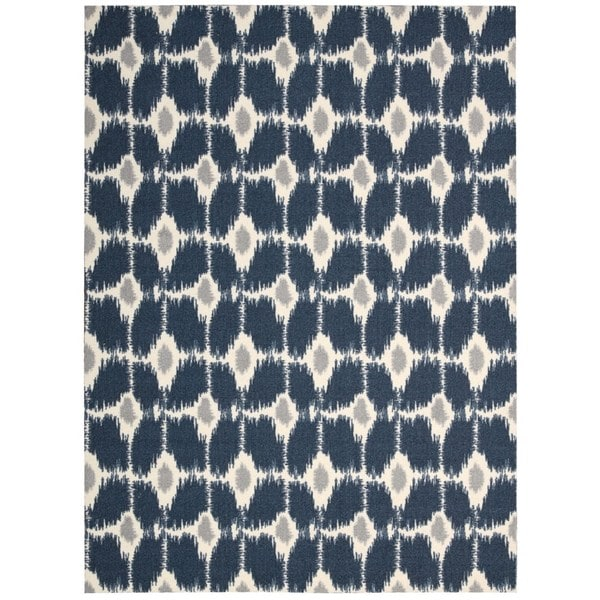 Rug Squared Milford Navy Rug - 5' x 7'