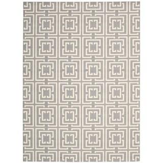 Rug Squared Milford Grey/Beige Rug (4' x 6')
