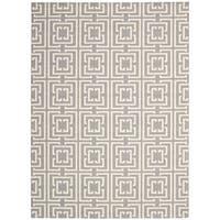 Rug Squared Milford Grey/Beige Rug (4' x 6') - 4' x 6'