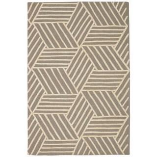 Rug Squared Saratoga Silver/Ivory Rug (5'x7'6)
