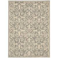 Rug Squared Seaside Silver Rug - 8'0x10'6