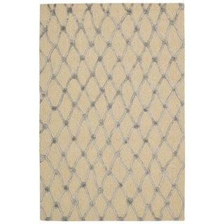 Rug Squared Saratoga Ivory Blue Rug (4'x6')