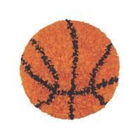 Shaggy Raggy Orange Basketball Area Rug