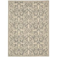 Rug Squared Seaside Silver Rug (5'0 x 7'6)