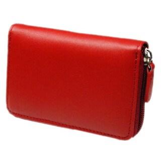 Castello Leather Zip-around Accordion Cardholder
