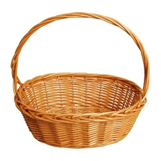 Wald Imports Oval Thick Willow Basket 14.5 inch