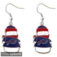 NFL Team Logo Snowman Holiday Dangle Earrings