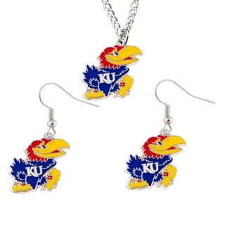 Sports Team Logo Necklace and Dangle Earring Charm Gift Set (More options available)