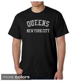 Men's Los Angeles Pop Art Men's 'Queens Neighborhoods' T-shirt (More options available)