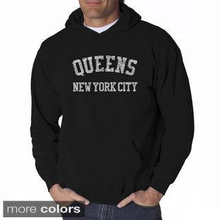 Los Angeles Pop Art Men's 'Queens Neighborhoods' Hooded Sweatshirt